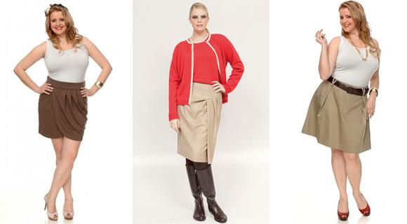 Фото: юбки для полных женщин