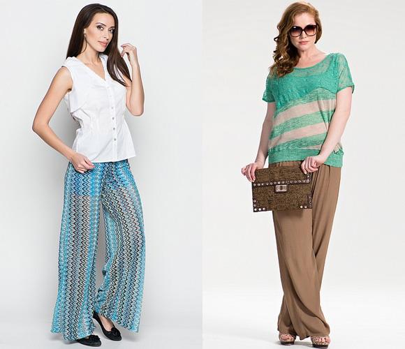Фото: модные широкие брюки