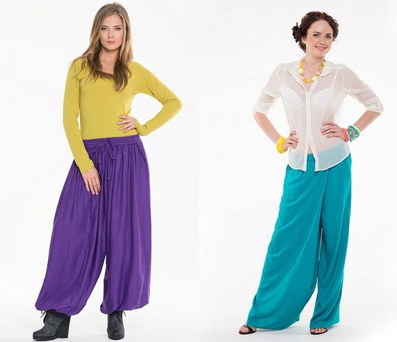 Фото: модные брюки-галифе с карманами
