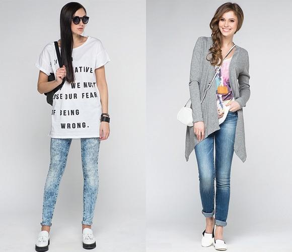 Фото: принты на джинсы-скинни