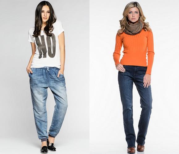 Фото: мужские-женские джинсы