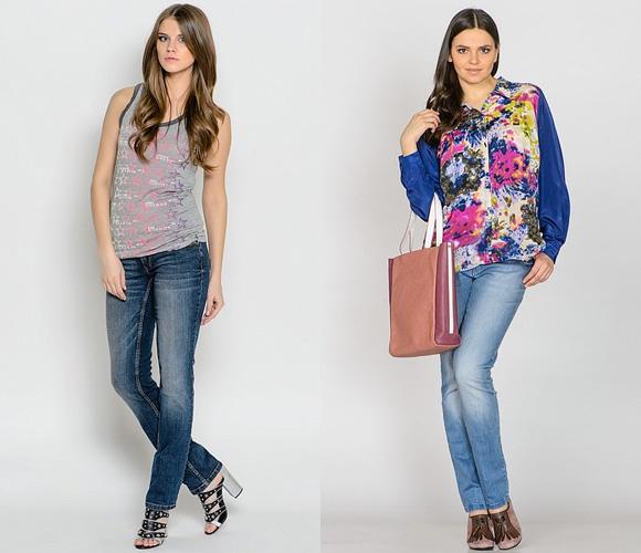 Фото: модные фасоны джинсов width=