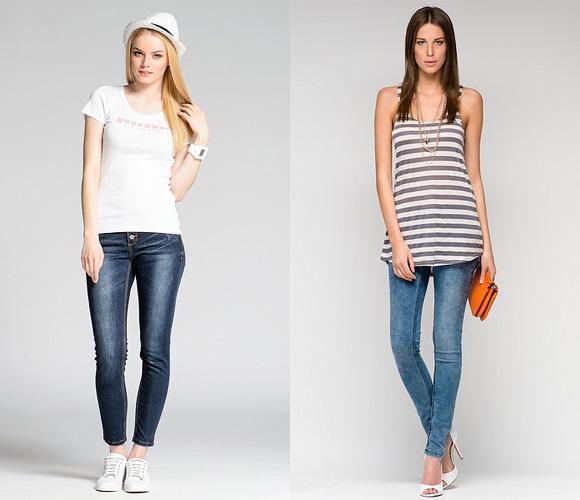 Фото: узкие джинсы для подтянутых длинных ног