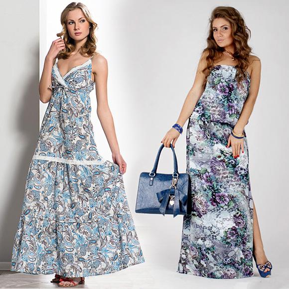 Фото: модные сарафаны с цветами