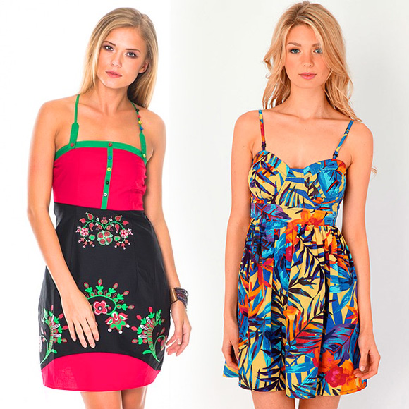 Модные сарафаны веселой расцветки - фото