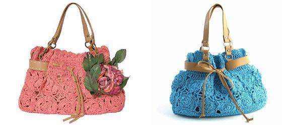 Фото: модные вязанные сумки