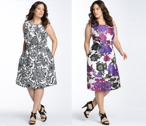 Модное платье для полных девушек
