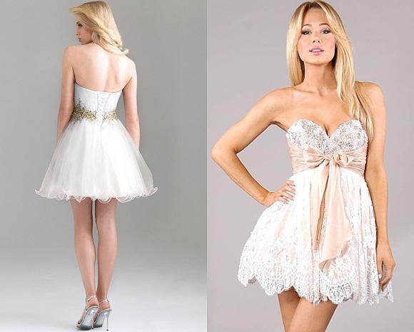 Фото: выпускные платья белого цвета