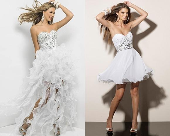 Фото: белые выпускные платья