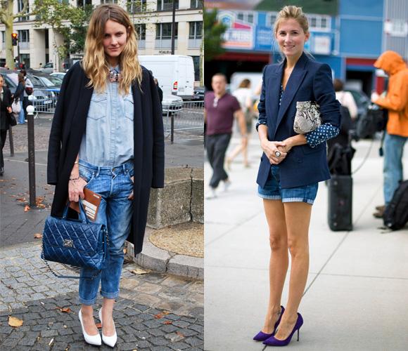 Джинсовые модели в уличной моде