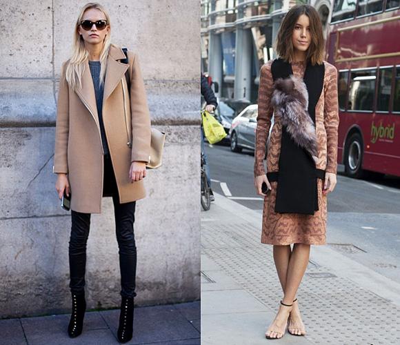 Уличная одежда в карамельных тонах