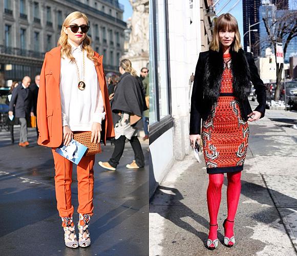 Оранжевый и все оттенки желтого цвета в уличной моде