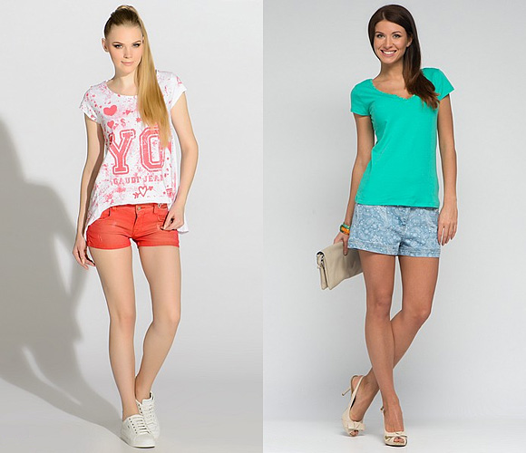 Фото: модные шорты для девушек со стройными ножкам