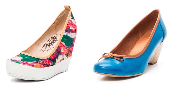 Фото: женские туфли на банкетке