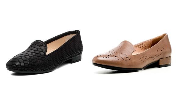 Фото: женские туфли в мужском стиле