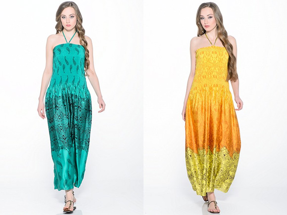 Графические и геометрические рисунки в платьях