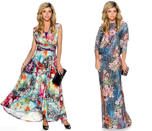 Фото: длинные летние платья