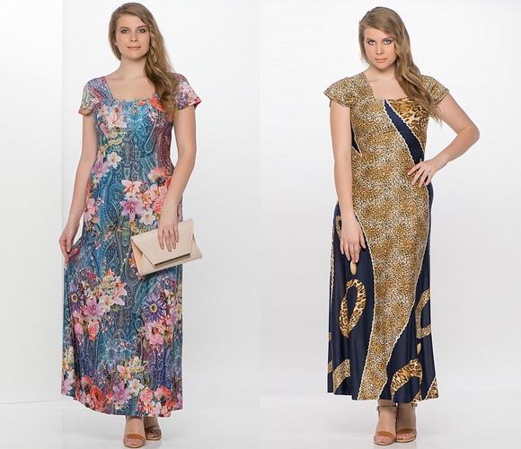 Фото: платья для полных женщин на лето