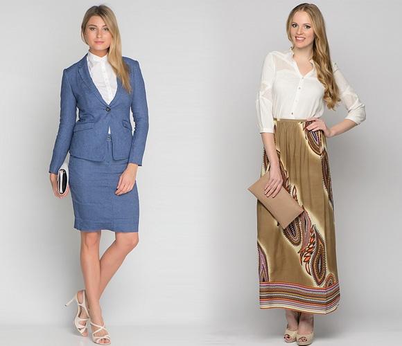 Фото: юбки в коллекциях John Galliano, Rochas, Diane von Furstenberg