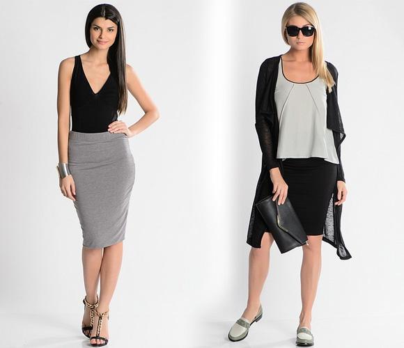 Фото: модные юбки из шелка, атласа, кружева