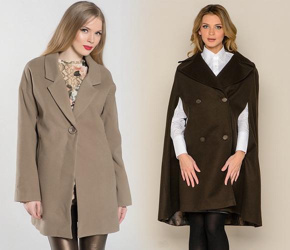 Фото: модные пальто-накидки
