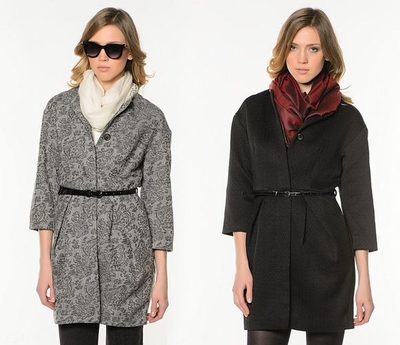 Фото: пальто с укороченным рукавом