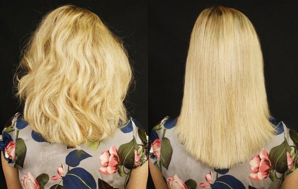 Процедура оказывает лечебное воздействие на волосы
