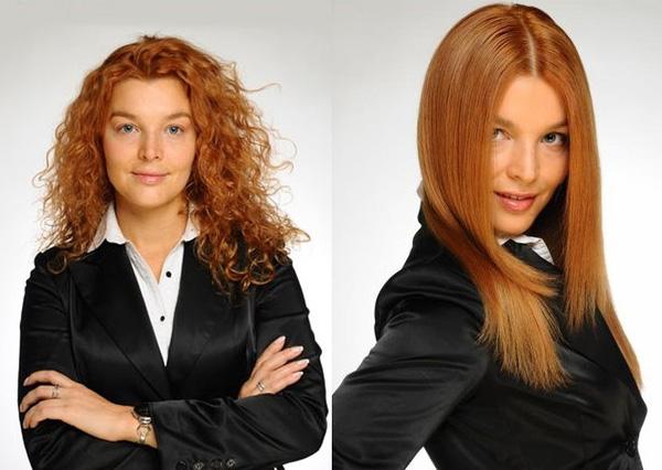 Фото: ДО и ПОСЛЕ кератинового восстановления волос