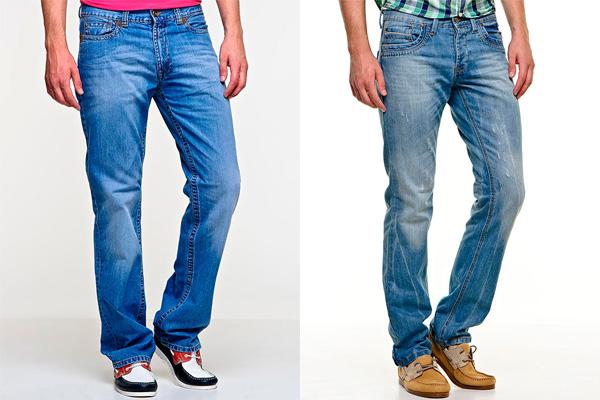 Фото: мужские прямые джинсы