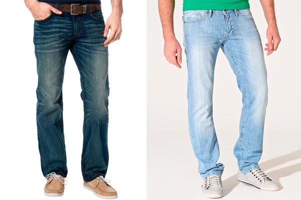 Фото: мужские джинсы клеш