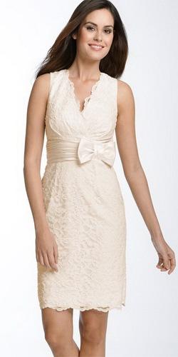 Фото: короткие свадебные платья