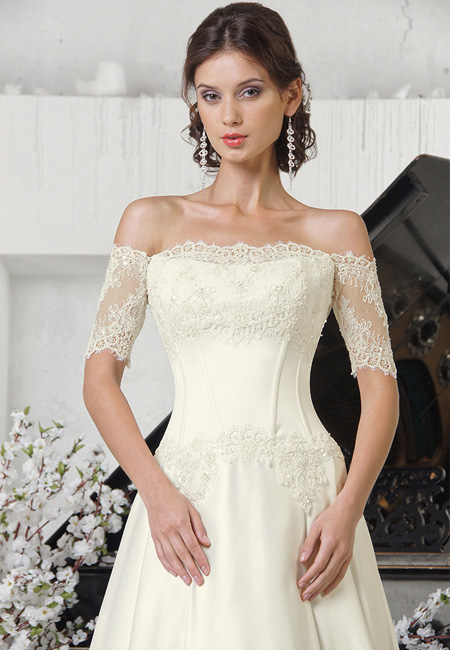 Мода на кружевные свадебные платья