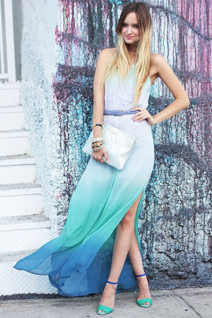 Переход цвета омбре в платье