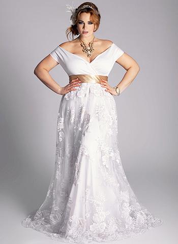 Фото: свадебные платья для пышных девушек