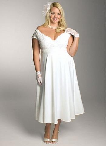 Фото: свадебные платья для полных женщин