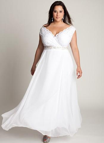 Модные платья на свадьбу для полных девушек