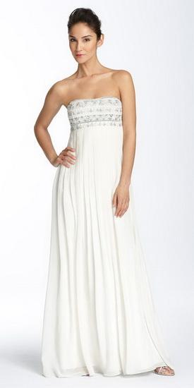 Свадебное платье в стиле ампир с открытым лифом