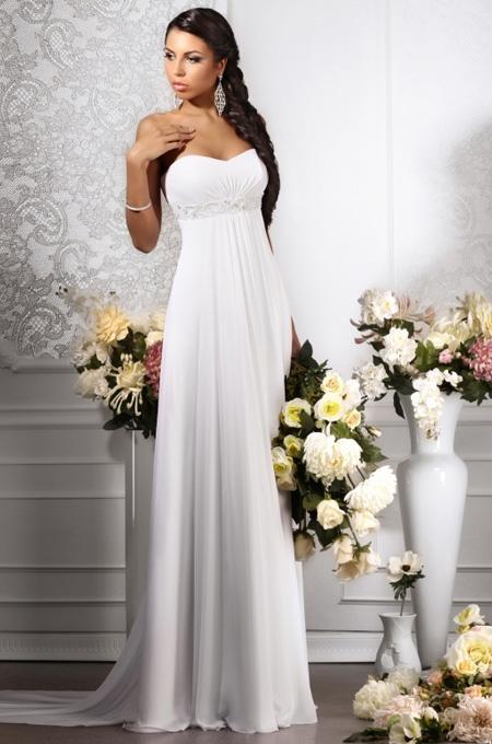Фото: модные свадебные платья в греческом стиле